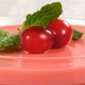 Gelatina light com frutas vermelhas