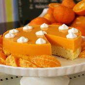 Torta diet de ricota e tangerina