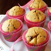 Muffin de pera e chocolate