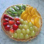 Torta de frutas frescas